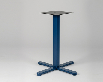 Picior central măsuță - pătrat, albastru
