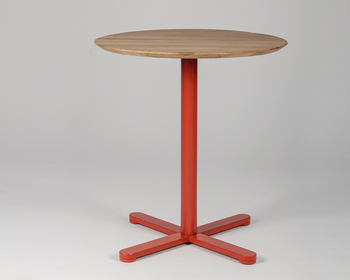 Măsuță Lido - picior rotund, portocaliu