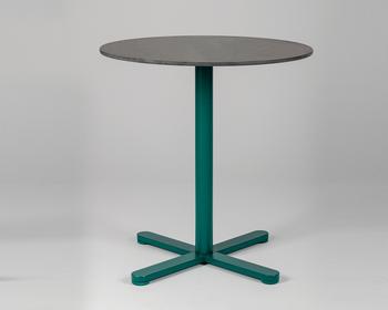 Măsuță Lido - picior rotund, verde